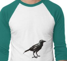 Ol' Crow White Feather from the Eliot Neighborhood, Portland, OR Men's Baseball ¾ T-Shirt