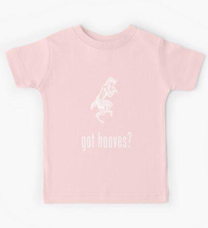 got hooves? White Kids Tee