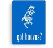 got hooves? White Canvas Print