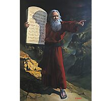 Moses and the 10 commandments Photographic Print