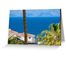 The view down to the sea Greeting Card