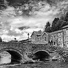 Beddgelert Village - B&W by Graham Taylor