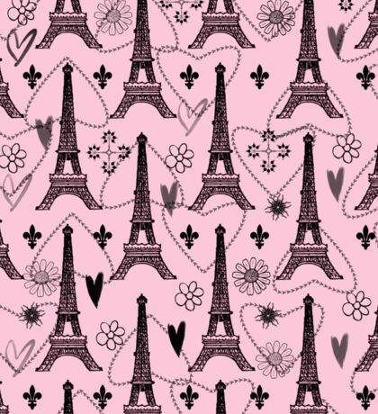 Paris Pink with Eiffel Tower Sticker