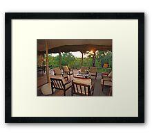 Safari sunset Framed Print