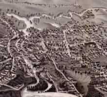 Panoramic Maps Lebanon Grafton County NH 1884 Sticker