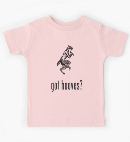 got hooves? Black Kids Tee