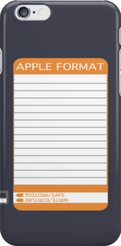 iPhone Floppy Label - orange by Maggie McFee