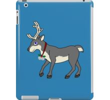Gray Reindeer with Silver Christmas Jingle Bells iPad Case/Skin