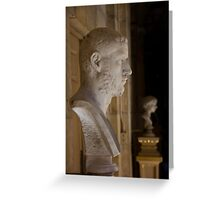 Bust at Castle Howard Greeting Card
