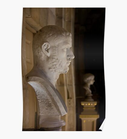 Bust at Castle Howard Poster