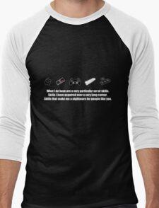 Particular Set of Gaming Skills Dark Men's Baseball ¾ T-Shirt