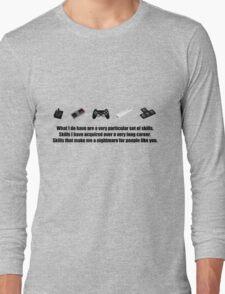 Particular Set of Gaming Skills Long Sleeve T-Shirt
