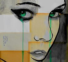 Isis (face on segmented paper) by Loui  Jover