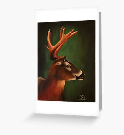 Whitetail Buck Deer Greeting Card
