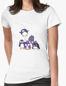 Penguin Parade Womens Fitted T-Shirt