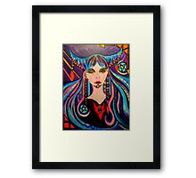 The 2 of Pentacles - Witch Tarot Illustration Framed Print
