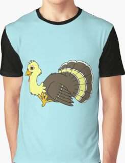 Thanksgiving Turkey with Light Yellow Feathers Graphic T-Shirt