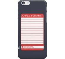 iPhone Floppy Label - red iPhone Case/Skin