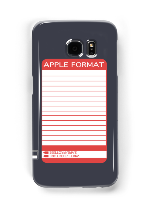 iPhone Floppy Label - red by Maggie McFee