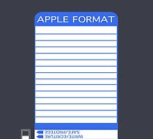 iPhone Floppy Label - blue by Maggie McFee
