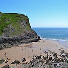 Thurba Head, Mewslade Bay, Gower Peninsula by Paula J James