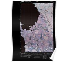 USGS Topo Map Washington State WA Bow 20110418 TM Inverted Poster