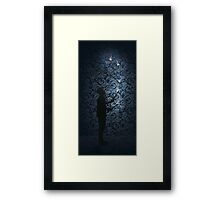 Juggling Torches Silhouette Framed Print