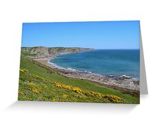 Fall Bay, Gower Peninsula Greeting Card