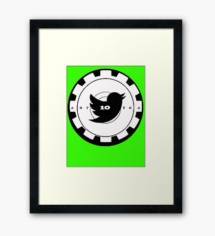Shoot Twitter Black and White Framed Print
