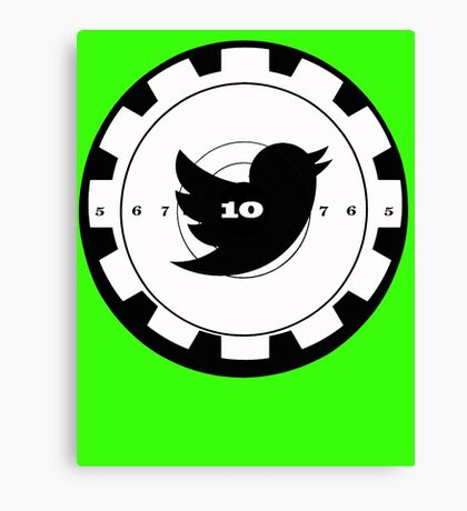Shoot Twitter Black and White Canvas Print