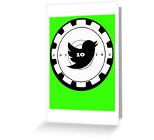 Shoot Twitter Black and White Greeting Card