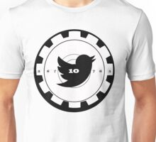 Shoot Twitter Black and White Unisex T-Shirt