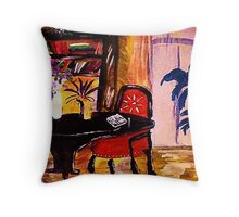 Living space, watercolour Throw Pillow