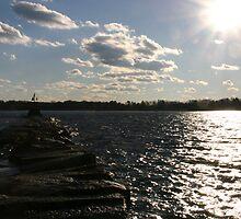 Rocky Waters Ahead by LWoodPhoto