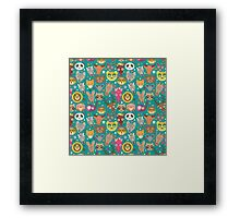 funny animals muzzle Framed Print