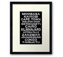 Africa Destination Subway Sign Art Framed Print