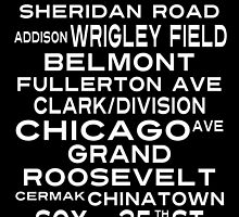 Chicago L Train Subway Sign Art by Subwaysign