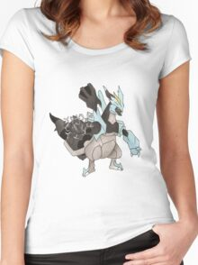 Black Kyurem Watercolour Women's Fitted Scoop T-Shirt