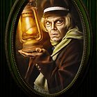 Grave Digger Framed Portrait, Haunted Mansion Series by Topher Adam The Dark Noveler by Hugs &amp; Bitchslaps SX Couture