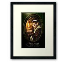 Grave Digger Framed Portrait, Haunted Mansion Series by Topher Adam The Dark Noveler Framed Print