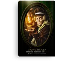 Grave Digger Framed Portrait, Haunted Mansion Series by Topher Adam The Dark Noveler Canvas Print