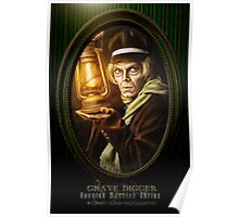 Grave Digger Framed Portrait, Haunted Mansion Series by Topher Adam The Dark Noveler Poster