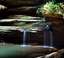 Falls At Old Man's Cave by Sam Warner
