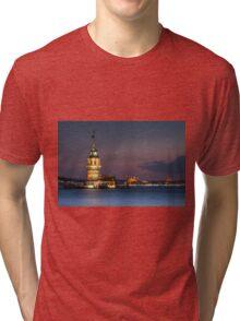 Maidens Tower under New Moon  Tri-blend T-Shirt