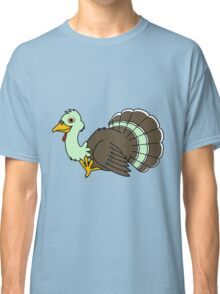 Thanksgiving Turkey with Light Green Feathers Classic T-Shirt
