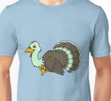 Thanksgiving Turkey with Light Green Feathers Unisex T-Shirt