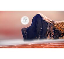 Moon Over Red Sea Photographic Print