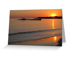 Summer fun at Sunset - Spanish Point, Clare, Ireland Greeting Card