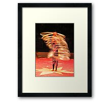 Jump, Hoop Lady Framed Print