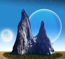 Rock in the Desert by Piero